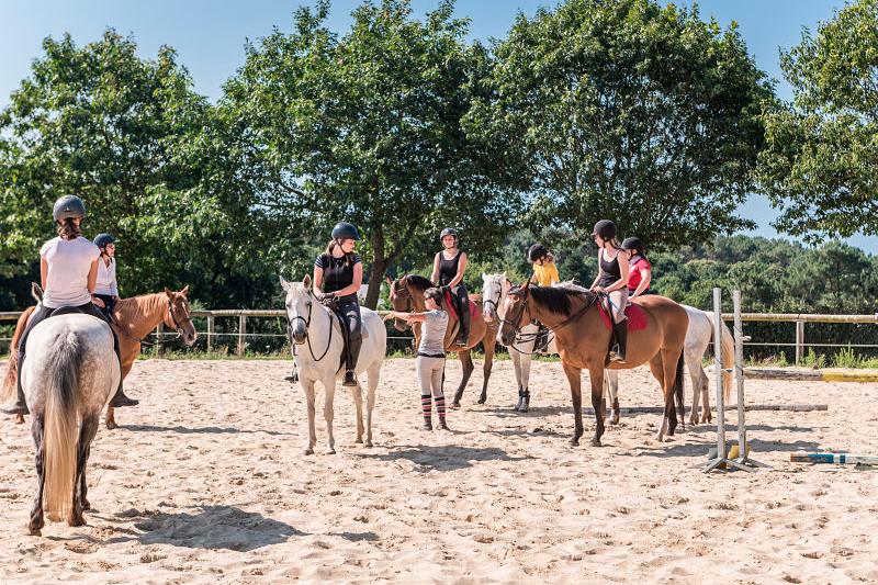 Centre Equestre Mané Guernehué Baden Golfe du Morbihan carrière en sable vue sur le Golfe