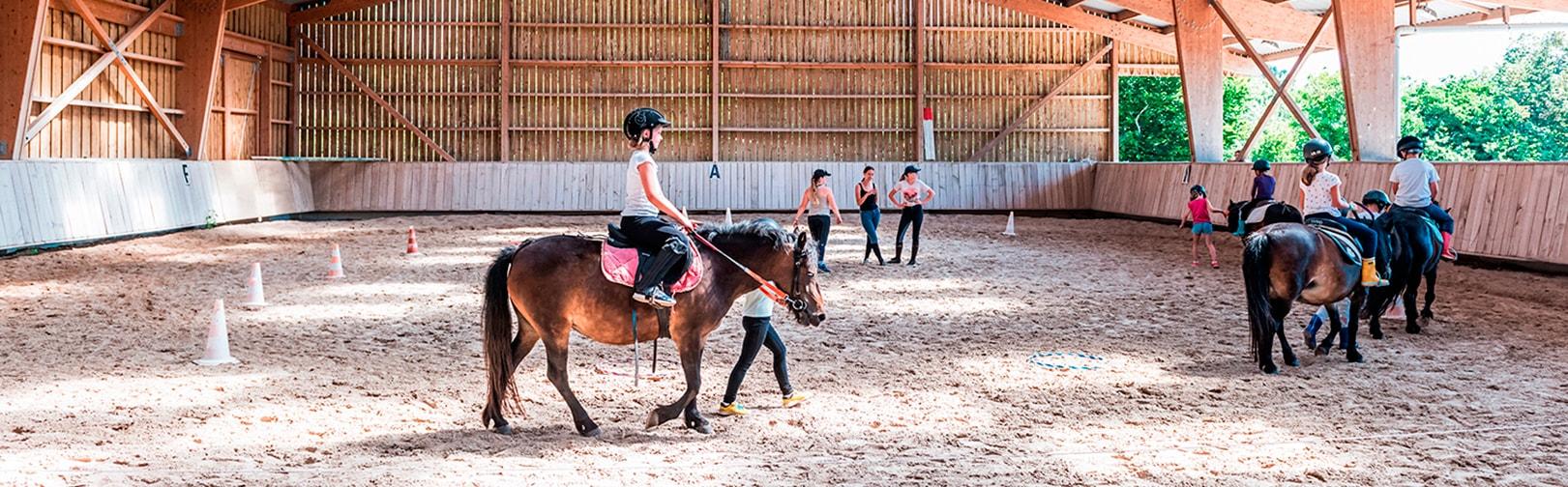 Stages d'équitation en juillet et août