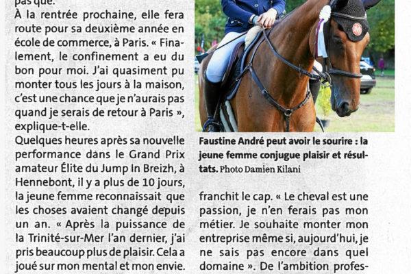 Faustine André équitation plaisir © Le Télégramme